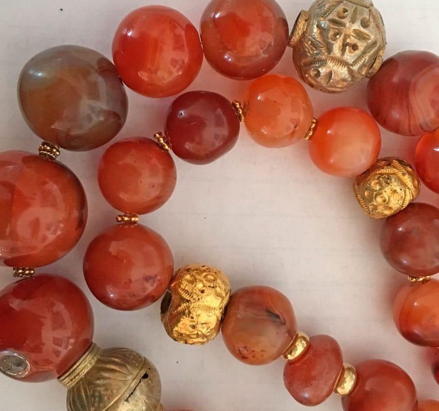 Kunsthåndværk - Halskæde med perler